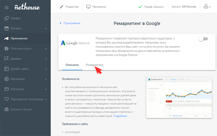 Nethouse: Google AdWords (ремаркетинг)